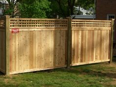 privacy fence wood and stone - Google Search