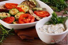 Receita de Legumes grelhados ao molho de ervas em receitas de legumes e verduras, veja essa e outras receitas aqui!