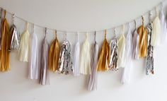 Snow Drift Tassel Garland by PaperFoxLA on Etsy