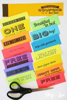 printable coupon book for dad. Perfect for a last minute Father's Day gift idea. #fathersday #fathersdaycrafts #giftideas