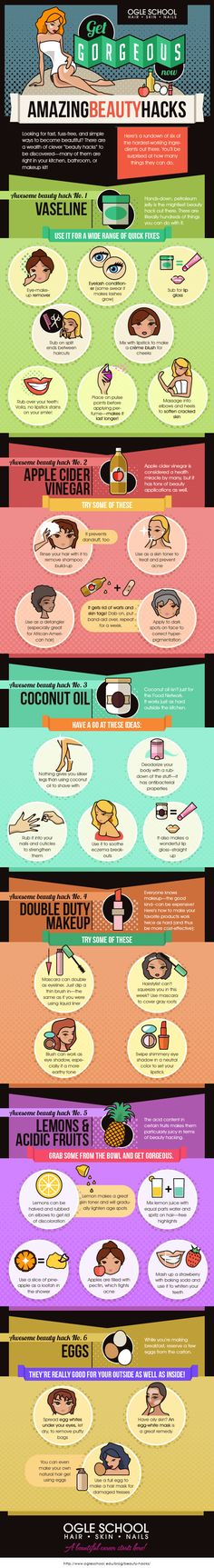 Tips to Get Gorgeous with Only 6 Beauty Ingredients - Tipsographic
