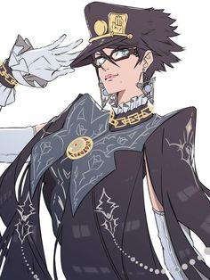 Jotaro x Bayonetta commission Resident Evil, Game Character, Character Design, Otaku, Videogames, Jotaro Kujo, Jojo Memes, Jojo Bizzare Adventure, Manga Pictures