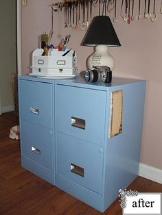 Gloriously repainting filing cabinets