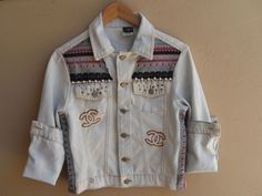 jaquetas customizadas | jaqueta jeans customizada - casaquinhos sem marca