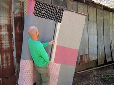 quilt photographing system by StitchedInColor, via Flickr