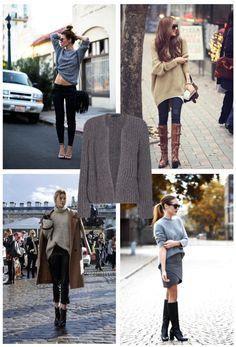Inspiration of the day: sweater&weather En www.orelse.es tenemos una edición limitada de tricots #handmade y 100% de lana ¡como se hacían antes! #limitededition #sweater #handmade #cold #fashion #streetstyle #instafashion #hechoamano #style #fallwinter