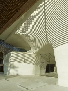 Louisiana State Museum and Sports Hall of Fame / Trahan Architects, love the striped shadows
