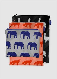 LLAMAS!!! baggu animals zip pouch m // sold out right now, but will restock late april!