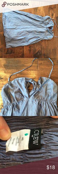 J.  Crew factory halter dress Denim blue halter dress 100% cotton. Good condition. J.Crew Factory Dresses Mini