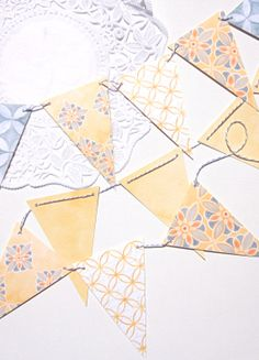 SUNSHINE Pennant Garland Banner by msddesign on Etsy Bunting Banner, Banners, Pig Roast, Party Garland, Fundraising Events, Festival Party, Twine, Sunshine, Paper Crafts
