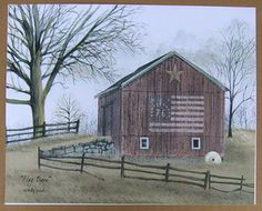 Image detail for - Flag-Barn-Billy-Jacobs-8x10-Unframed-Picture-Print-Art-Interior-Home ...