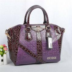 Guess Purple Patent-Leather Shoulder Bag-Handbag for Woman - New Arrival Guess Handbags-Campaign Categories - TopBuy.com.au