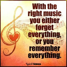 Lets the music heal my soul...