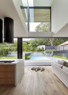 48 Inspiring Natural Home Light Architecture Design - Wohn- und Esszimmer - Architektur Modern Kitchen Design, Modern House Design, Home Design, Home Interior Design, Interior Decorating, Design Ideas, Wall Design, Australian Interior Design, Australian Architecture