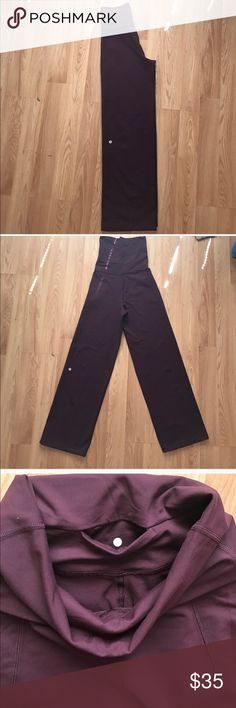 Lululemon yoga pants Burgundy Great condition lululemon athletica Pants