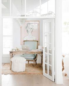 Home Office Study Design Ideas Home Office Design, Home Office Decor, House Design, Office Ideas, Office Inspo, Office Designs, Three Birds Renovations, Hamptons House, Hamptons Kitchen