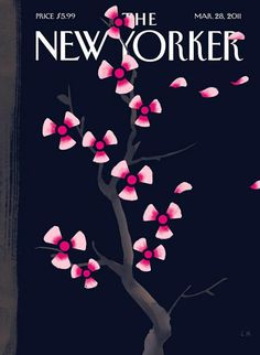 The New Yorker: illustration by Christophe Niemann depicting radiation disaster after Japan earthquake and tsunami.