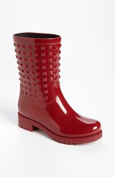 Free shipping and returns on Valentino 'Rockstud' Rain Boot (Women) at Nordstrom.com. Tonal studs peppering the shaft add signature dimension to a mid-height biker boot.
