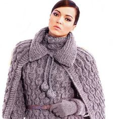 Knitted sweater with drape