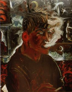 Otto Dix,self portrait as smoker,another geyser who went through the trenches and then into seedy underworld Berlin in the 30s.