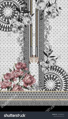Tips To Help You Succeed With Organic Gardening – Flowers and Gardening Textile Prints, Textile Design, Design Art, Print Design, Textile Texture, Pattern Art, Print Patterns, Pattern Design, Greek Pattern