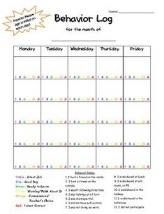 Great behavior log... Lordy, I could always use a good one of these!