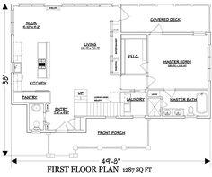 Coastal Home Plans - Florence Cottage