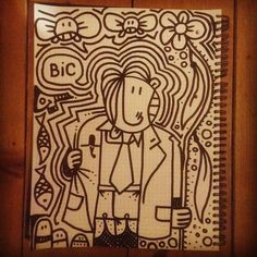 #drawing on #paper with a #marker #pen / #doodle #art #Instagram