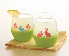 Craft Painting - Martha Stewart Easter Bunny Glasses