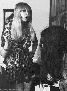 Pattie Boyd 1968 | July 11, 1968 - Pattie and Yoko in the foyer of St. Sophia's Church ...