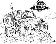 #Jeep Wrangler #Coloring Page for the #Kids
