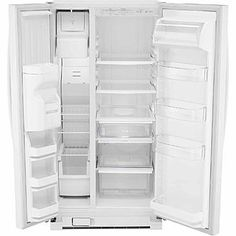 kenmore 22442. kenmore 21 cu. ft. side-by-side refrigerator - white 1 22442 n