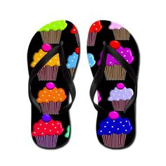 Cute Cupcake Flip Flops http://www.cafepress.com/ cupcakes_1png_flip_flops,651817890?aid=1115743   CafePress has the best selection of custom t-shirts, personalized gifts, posters , art, mugs, and much more.{Cafepress-hk1kxZQf}