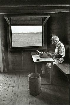 EB White.  Have been in this writing studio of his!