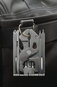 Swiss+Tech ST53100 Polished SS 19-in-1 Micro EDC Everyday Carry Gadget Pocket Multi tool for Camping, Outdoors, Hardware