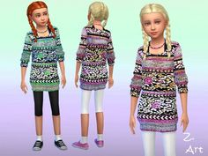 Long Sweater by Zuckerschnute20 at TSR via Sims 4 Updates