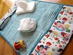 Este trocador de fraldas pode também ter outros detalhes e aplicações, se você quiser (Foto: home-dzine.co.za)