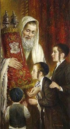 Elena Flerova -Kissing the Torah II-Judaica fine art Jewish oil Painting… Jewish History, Jewish Art, Religious Art, Cultura Judaica, Arte Judaica, Messianic Judaism, Oil Painting Reproductions, Culture, Indiana Jones