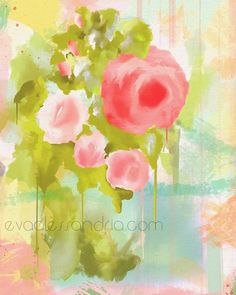 Floral abstract art