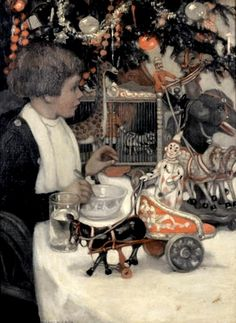 Eugenie M. Wireman (American, 20th Century) A Christmas Morning.