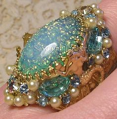 My original aquamarine Mermaids ring is back! On Etsy (Savannahparker) and Ebay (savannahparker1)