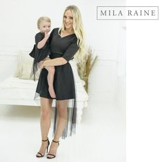 Mother and Daughter Matching Cascade dresses by Mila Raine Short Sleeve Dresses, Dresses With Sleeves, My Mom, I Dress, My Outfit, Rain, Daughter, Clothes, Fashion
