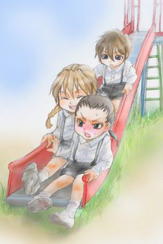 Gundam Wing ~~ chibi Heero, Duo, and Wufei. :: What we used to call a (1x2x5). ^_^