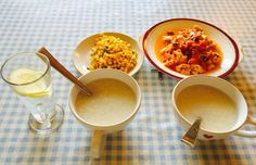My lovely Chinese breakfast. Spring onions with sweet corn, egg and tomato and rice congee. Rice Congee, Chinese Breakfast, Shaolin Kung Fu, Chinese Martial Arts, Life Pictures, Sweet Corn, Chana Masala, Onions, Egg