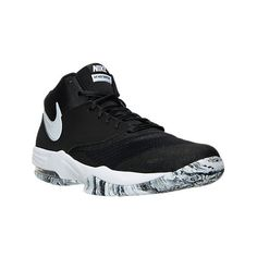 Nike Men's Air Max Emergent Basketball Shoes ($80) ❤ liked on Polyvore featuring men's fashion, men's shoes, men's athletic shoes, black, mens shoes, nike mens athletic shoes, nike mens shoes, mens black shoes and mens black athletic shoes