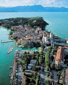 The Grand Hotel Terme holds pole position on Sirmione, with direct access to the waters of Lake Garda.