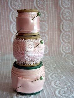 Pink Spools of Joy! by Its Bella, via Flickr