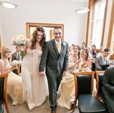 Real Claire Pettibone bride wearing 'Larissa' via White Room Bridal