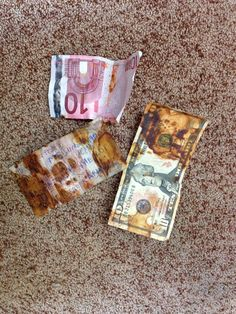 Foreign currency destroyed