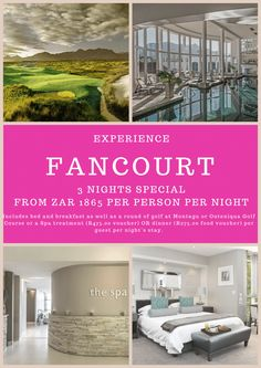Add this to your next Holiday to v Food Vouchers, Stay The Night, Spa Treatments, Africa Travel, Bed And Breakfast, South Africa, Golf Courses, Southern, Holiday